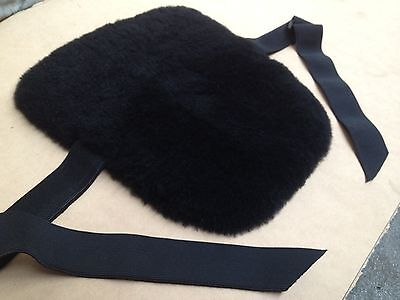 New Sheepskin motorcycle Black Seat Cover Pad - seatcover