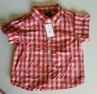 00 NEW baby Gap checked woven button shirt top lots2list