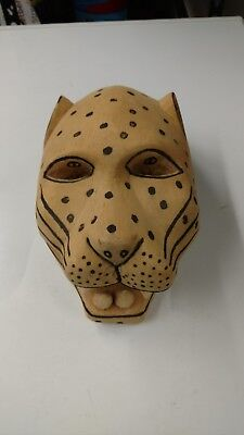 African Wood Leopard Mask