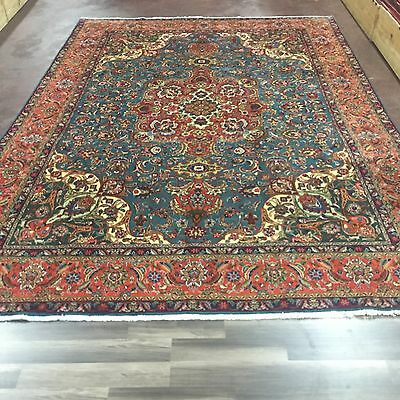 """Great Sale Hand Knotted Persian Tabriz-floral Rug Carpet 8x12,8'3""""x11'9''"""