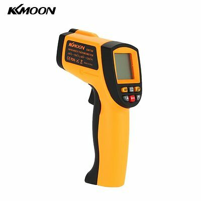 KKmoon Digital LCD Non-Contact IR Thermometer -50-700℃ w/ Alarm &