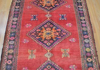 4'2x10'9 Beautiful Genuine Persian Tribal Hand Knotted Oriental Wool Runner Rug