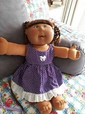 Cabbage Patch Play Along Girl -golden brown cornsilk Hair, Brown Eyes,