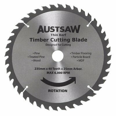 DISCONTINUED 9 1/4inch (235mm) 40T Thin Kerf Blade Timber Cutting Blade