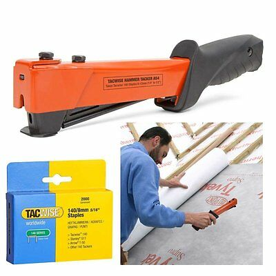 Tacwise Heavy Duty Type 140 12mm Hammer Tacker Roofing Felt Stapler Kit with 140