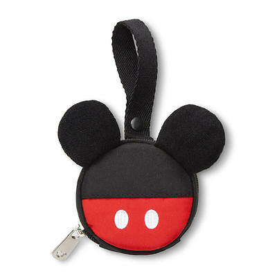 NEW Mickey Mouse Pacifier Pouch - Red/Black