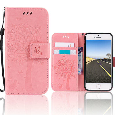 Magnet Leather Flip Wallet Case Wristlet Cover Stand For iPhone 6 Plus /6s Plus