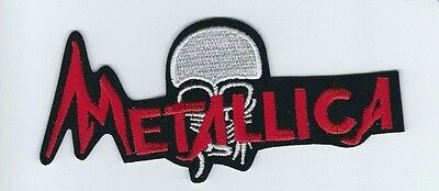 Metallica Skull And Logo Embroidered Patch !