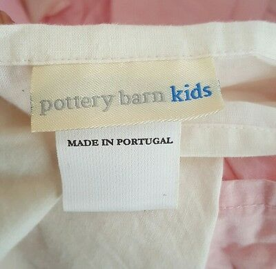 Pottery Barn Kids Pink Bedskirt Dust Ruffle for a Full Bed