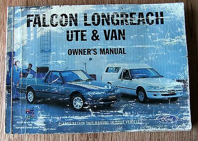 Owners Handbook Manual Ford Falcon Longreach ute and van