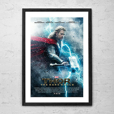 Thor 'The Dark World' - Superhero Action Cult Movie Poster - 2011