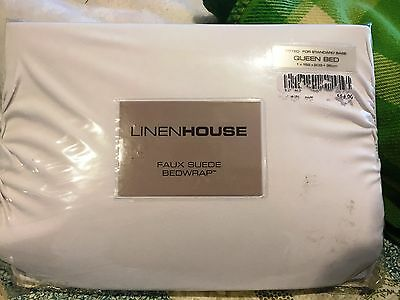 Linen House Queen Faux Suede Bed Wrap