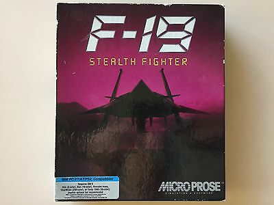 """Vintage IBM PC Micro Prose F-19 Stealth Fighter Game 5.25"""" Software"""