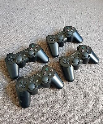 Four Dualshock Playstation 3 controllers