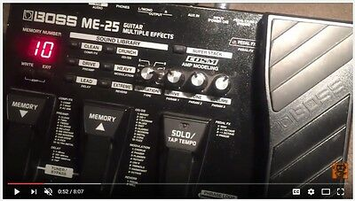 Boss ME-25 Multi effects guitar pedal