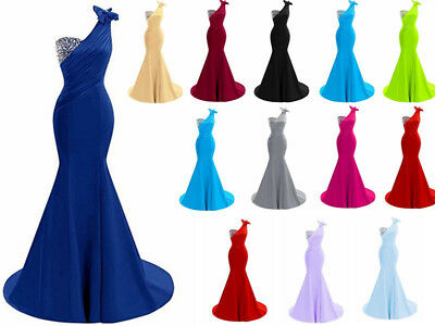 2018 New Long Prom Dress Bridesmaid  Wedding Evening Formal Party Ball Gown