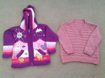 Girls Knitted Jumpers - Size 4