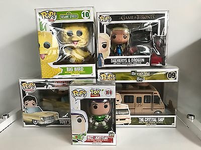Collectors Choice Funko Pop Protector Bundle- choice 4+6-Inch 2+3-Pack Pop Ride