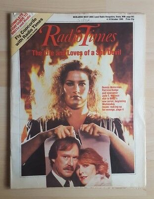 Vintage Radio Times 4-10 October 1986 The Life and Loves of a She Devil