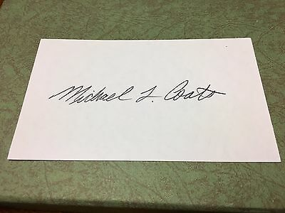 Michael Coats Signed 3X5 Card! Nasa Astronaut Space Shuttle Moon Autograph