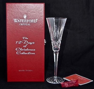 Boxed 8th Edition WATERFORD CRYSTAL 12 Days of Christmas Flute - 8 Maids Milking