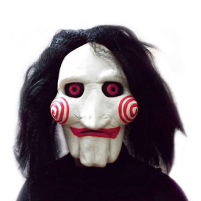Saw Jigsaw Puppet Billy Horror Adult Fancy Dress Party Costume Mask Halloween AU
