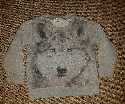 Boys wolf jumper by witchery. Size 4