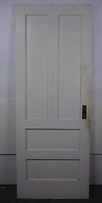 "Antique Vintage 4 Panel Door 77-3/4"" X 29-7/8"" (P4) Early 1900's Local Pickup"