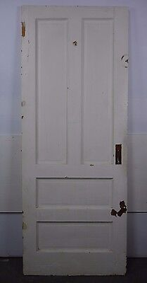 "Antique Vintage 4 Panel Door 75-7/8"" X 30"" (Q4) Early 1900's Local Pickup"