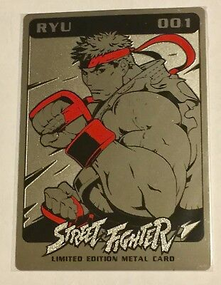 Udon Capcom Street Fighter Ryu Metal Card Sdcc San Diego Comic Con Series 1 Rare