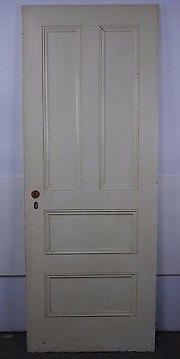 "Antique Vintage 4 Panel Door 77-1/2"" X 29-3/4"" X 1-1/8"" (R4) Local Pickup"