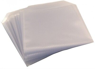 10 CD DVD DISC CLEAR COVER CASES PLASTIC 100 MICRON SLEEVE WALLET - 10 pack