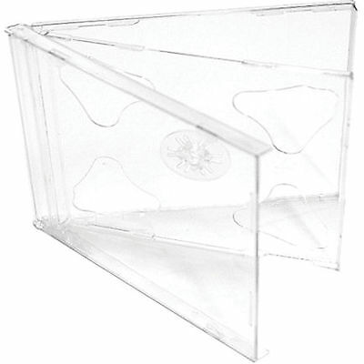 50 X CD / DVD Double Jewel Cases 10.4mm for 2 Disc with Clear Tray - Pack of 50