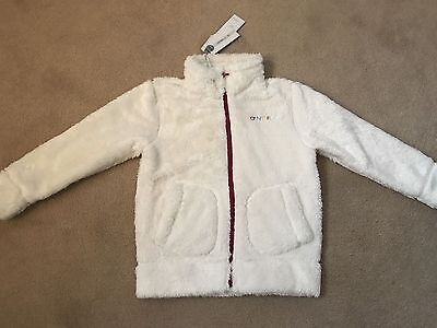 Age 3 Years Designer O'NEILL Girls Fleece Jacket / Coat Top BNWT WHITE £38