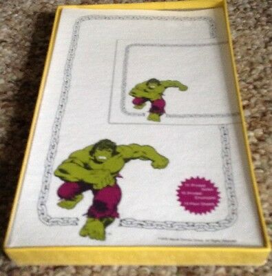 The Incredible Hulk Stationary 1978 Unopened