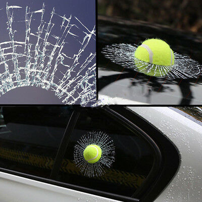 3D Tennis Ball Window Car Sticker Tailgate Decal Auto Windshield Decoration Toy