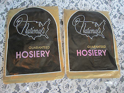 NOS Vintage NATIONAL'S GUARANTEED HOSIERY Nylon Stockings ONE SIZE Thigh High ?