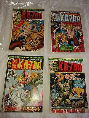 ASTONISHING TALES featuring KAZAR - Marvel comics x 4 ~#11, 12, 13, 16