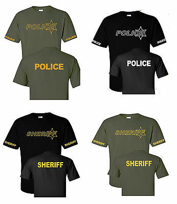 Deputy Sheriff and Police Law enforcement  T shirts S-5XL