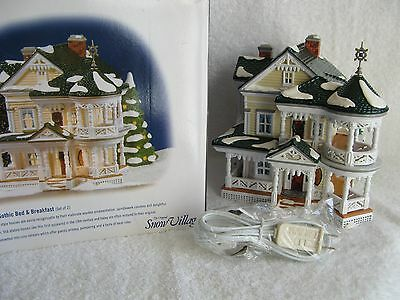 DEPT 56 - SV - CARPENTER GOTHIC BED & BREAKFAST - Amer. Architecture - MINT