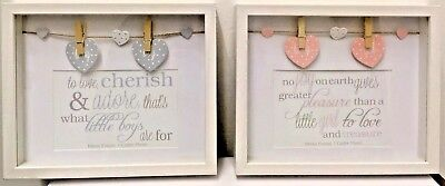 Baby Boy Baby Girl Peg Box Photo Frame - 6x4""