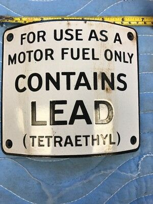 Curved Single Sided Porcelain Gas Pump Sign