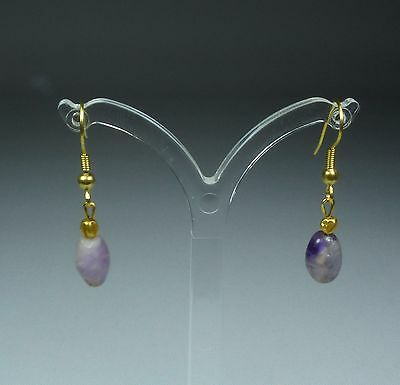 Ancient Amethyst And Gold Earrings