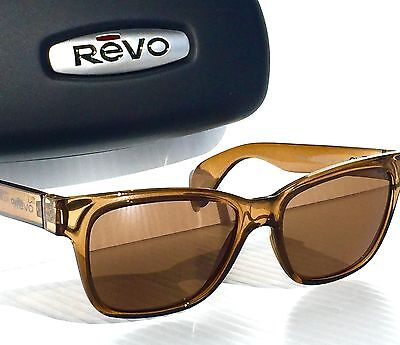 a8913f3fa9 NEW  REVO TRYSTAN Rootbeer POLARIZED Blue Water lens Sunglass RE 5012 02 BR