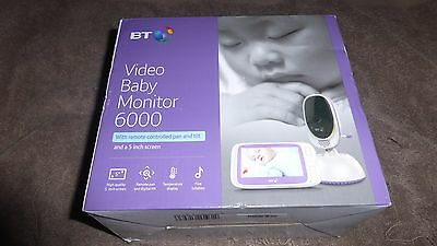 New BT Video Baby Monitor 6000 Widescreen Two Way Talk Pan & Tilt Night Vision