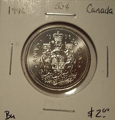 Canada Elizabeth II 1996 Fifty Cents From Mint Roll