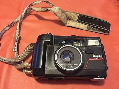 NIKON Action Touch Underwater Waterproof Camera w 35mm f/2.8 Lens - Tested Works