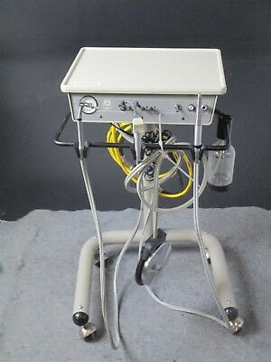 Adec 2551 Dental Mobile Delivery System Cart w/ 2 Handpiece Connections