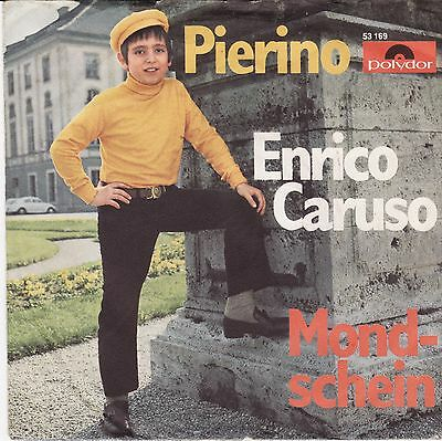 "Schlager Pierino Enrico Caruso Mondschein German 45 7"" PS Children's Pop"
