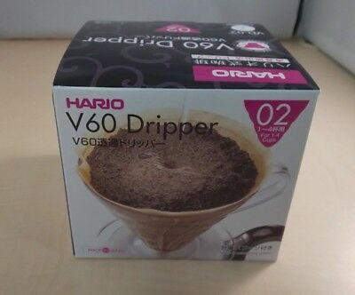 Hario V60 Plastic Coffee Dripper (Size 02, Clear)